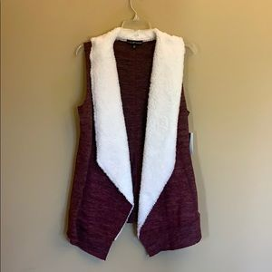 NWT Almost Famous Sherpa lined vest